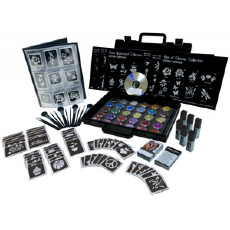 Glimmer body art professional kit for Professional painting supplies