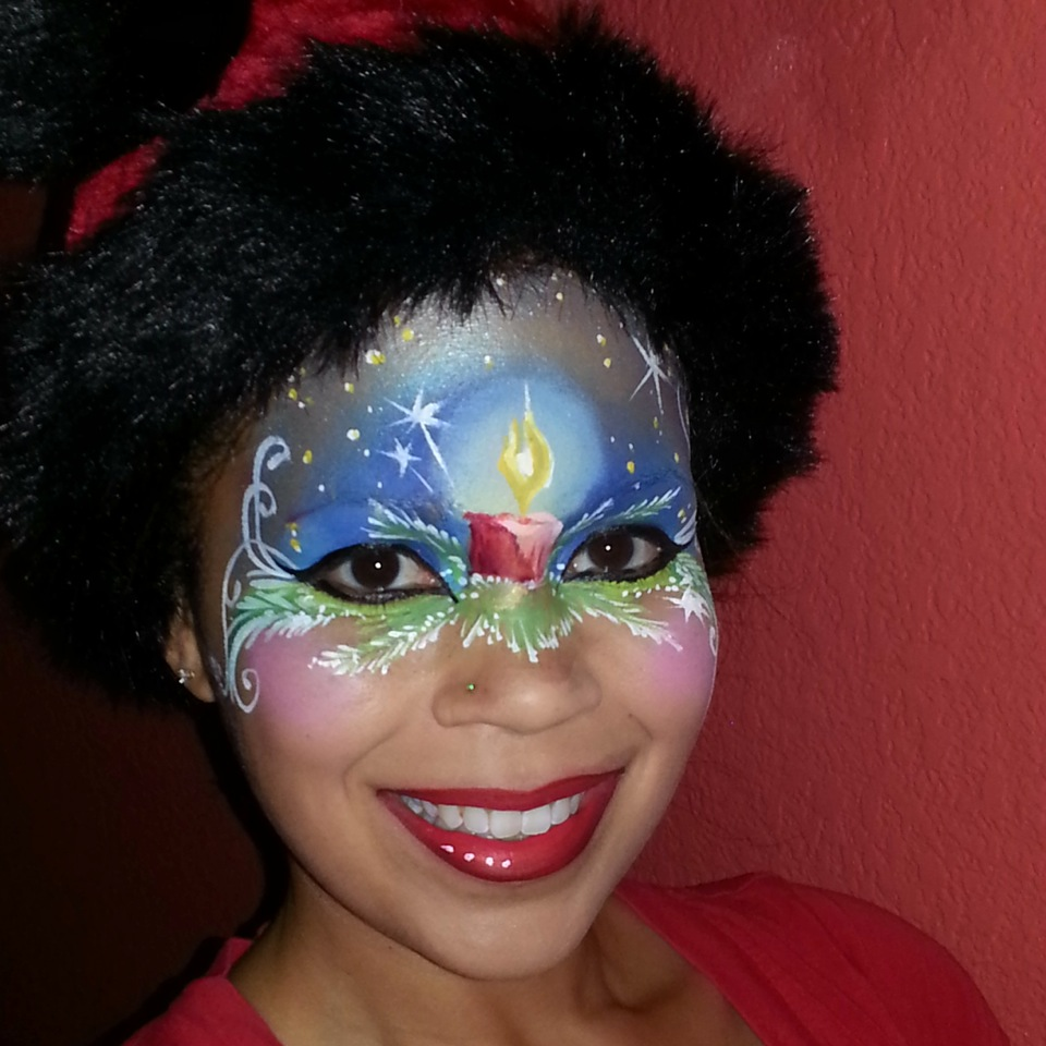 illusion christmas face painting competition
