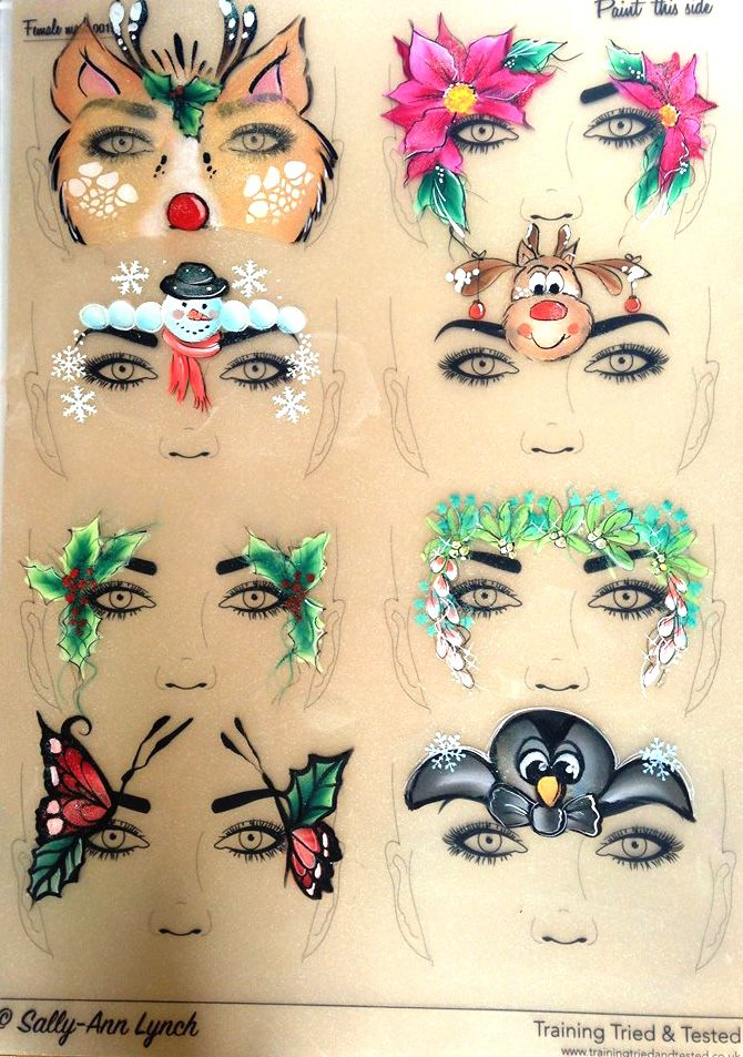 Christmas Face Paint.Christmas Face Painting Design Ideas