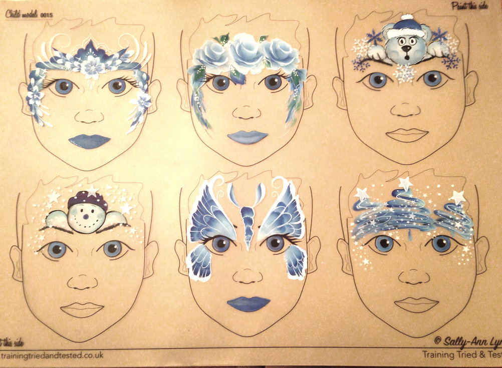 Christmas Face Painting Design Ideas