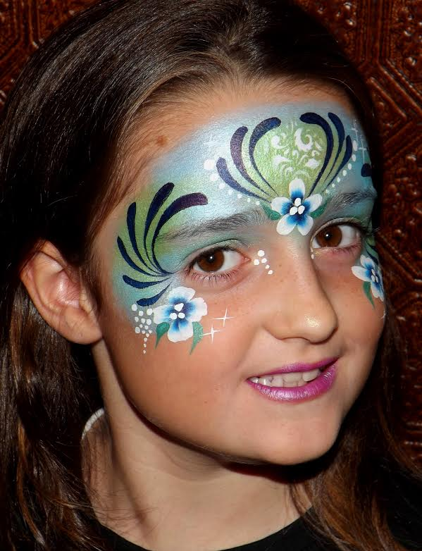 Blue Face Painting Designs
