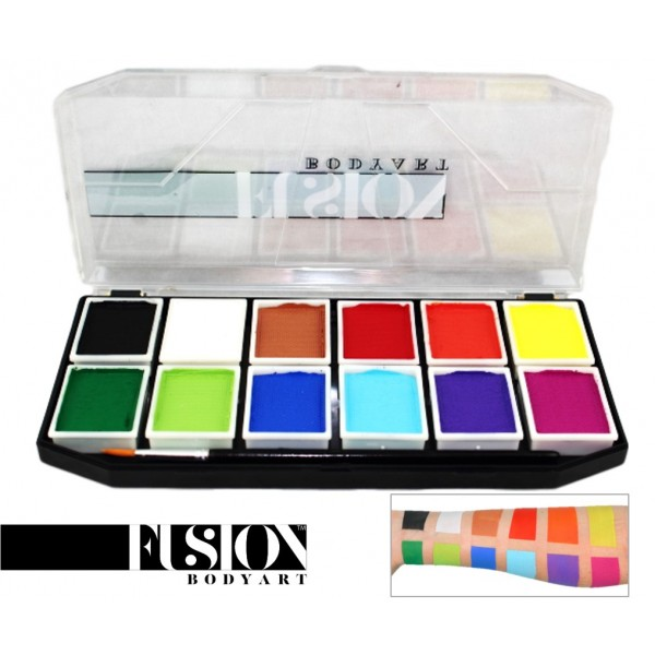 Fusion Body Art Sampler Face Painting Palette