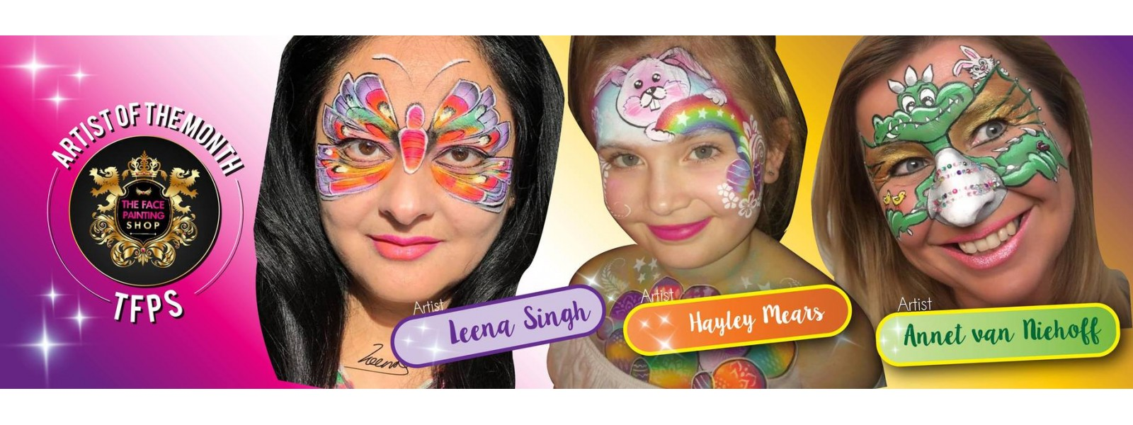 The Face Painting Shop Artists of the month