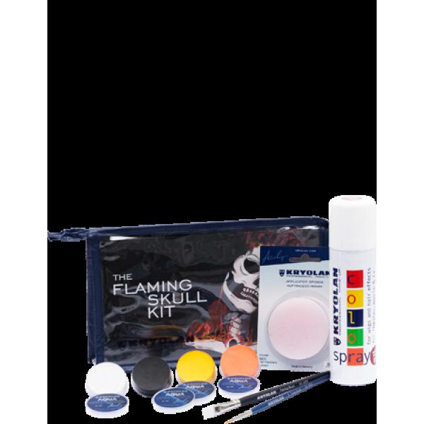 Kryolan Flaming Skull Kit