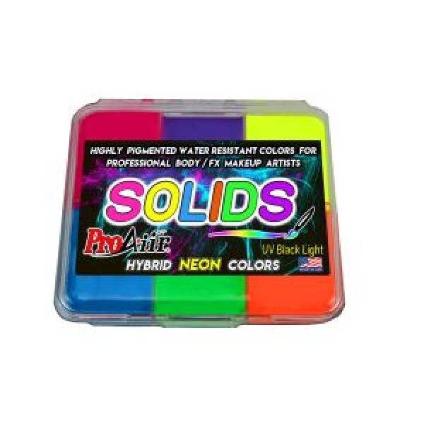 ProAiir Solids Palette Neon Colours and Activator