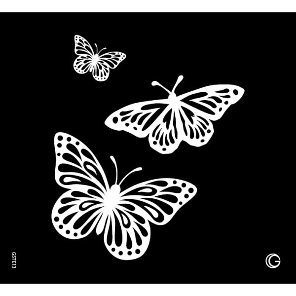 Glimmer Butterfly Trio Go Couture Stencil