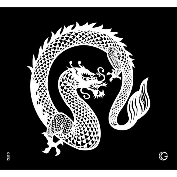 Glimmer Dragon Go Couture Stencil