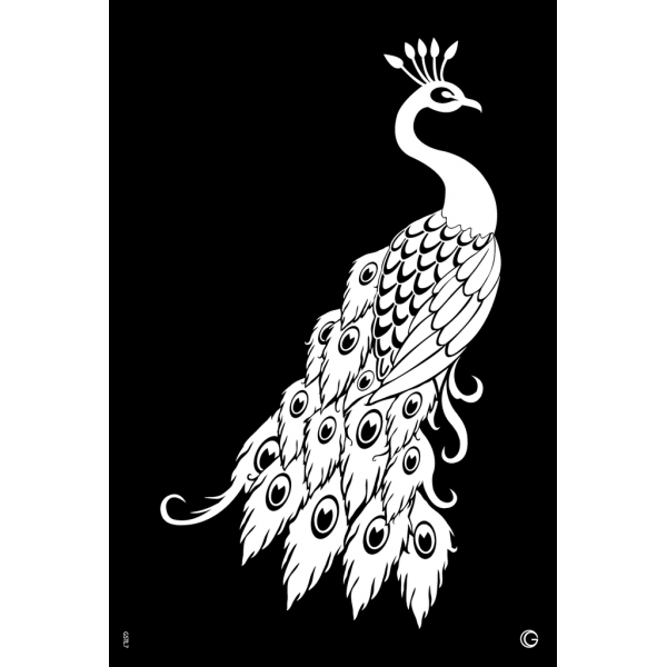 Glimmer Proud Peacock Go Couture Large Stencil