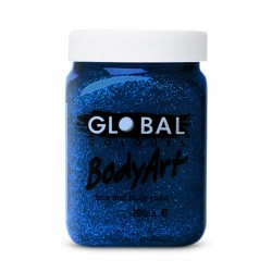 Global Body Art Blue Glitter Gel 200ml
