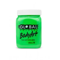 Global Body Art Liquid Flo Green 200ml