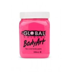 Global Body Art Liquid Flo Pink 200ml