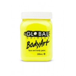 Global Body Art Liquid Flo Yellow 200ml