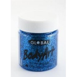 Global Body Art Liquid Blue Glitter 45ml