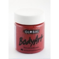Global Body Art Liquid Deep Red 45ml