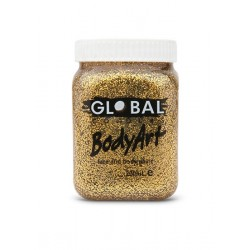 Global Body Art Gold Glitter Gel 200ml