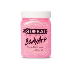 Global Body Art Pink Glitter Gel 45ml