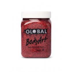 Global Body Art Red Glitter Gel 200ml