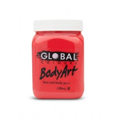 Global Body Art Liquid Brilliant Red 200ml