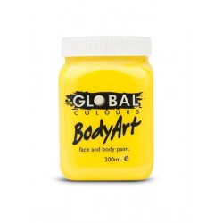Global Body Art Liquid Yellow 200ml