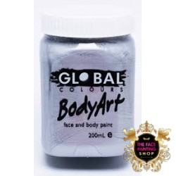 Global Body Art Liquid Silver 200ml