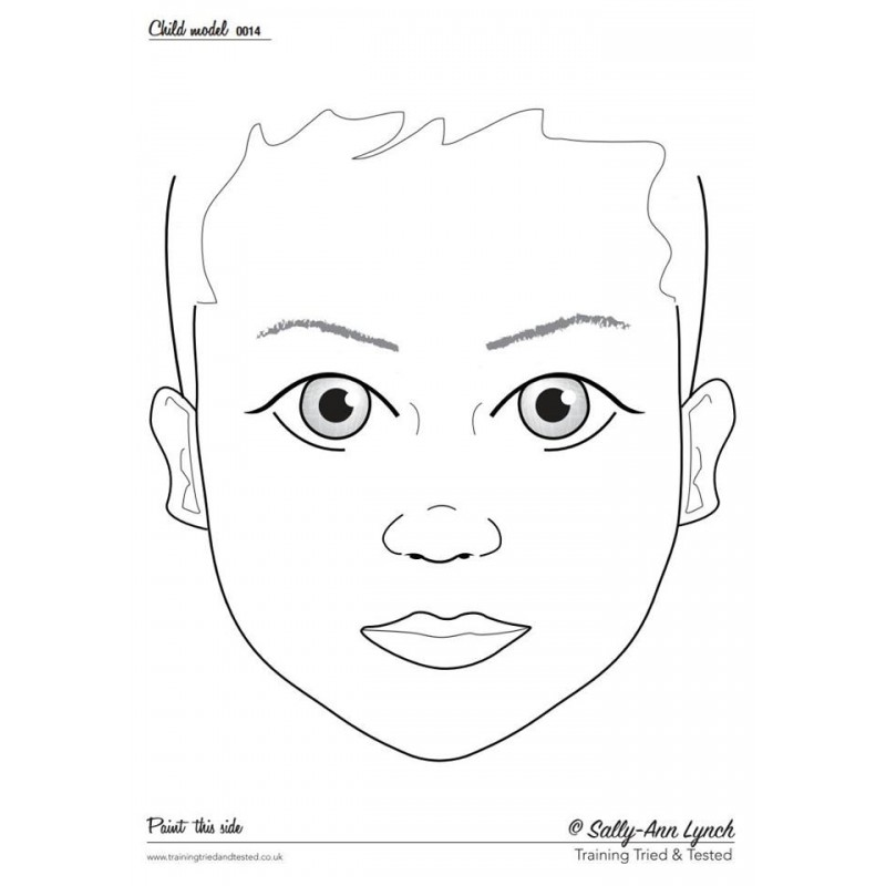 Face Painting Practice Template