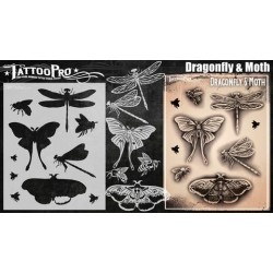 Airbrush  Tattoo Pro BIG DragonFly and Moth