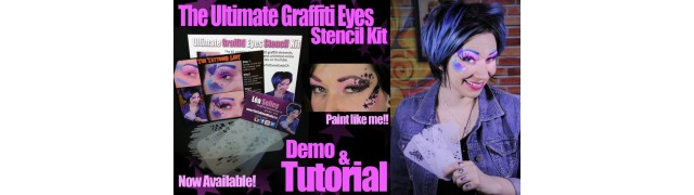 Graffiti Eye Stencils