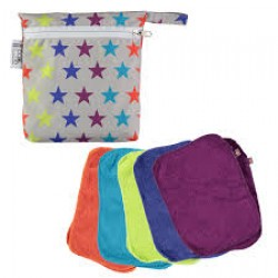 Pop-in Reusable Bamboo Wipes - Brights