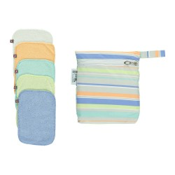 Pop-in Reusable Bamboo Wipes - Pastels