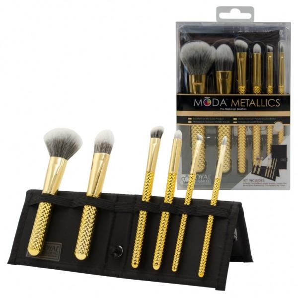 MODA® Metallics 7pc Total Face Flip Kit Gold