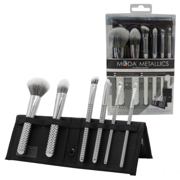 MODA® Metallics 7pc Total Face Flip Kit Silver