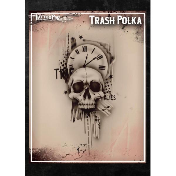 Airbrush tattoo pro stencil trash polka for Airbrush tattoo paint