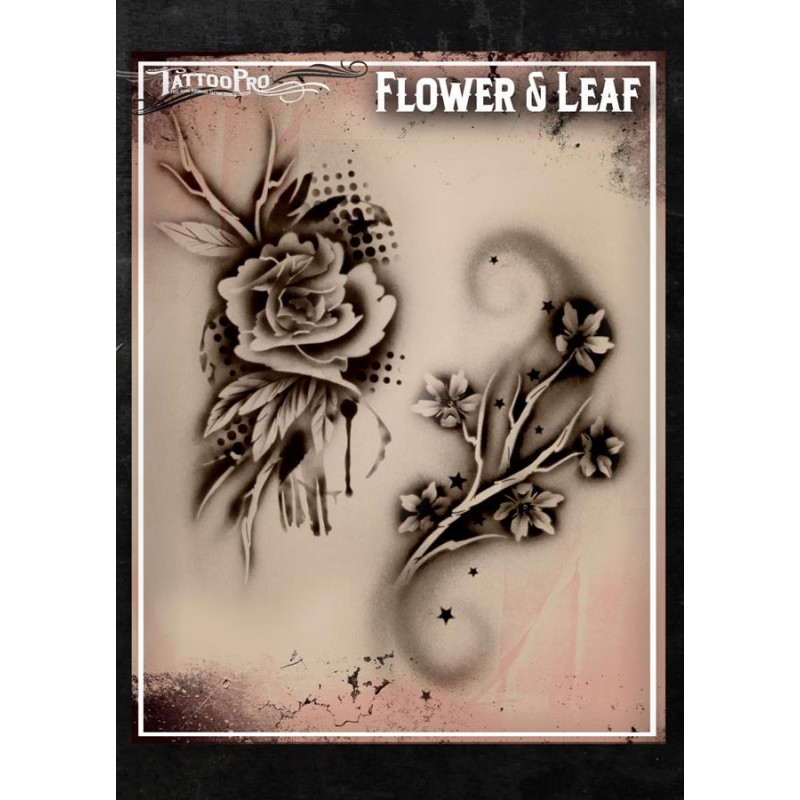 17e712e7c Airbrush Tattoo Pro Stencil Rose's and Scrolls
