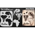 Airbrush Tattoo Pro African Elephant