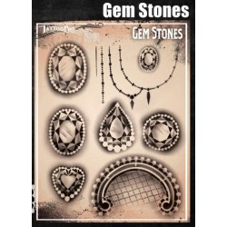 Airbrush Tattoo Pro Stencil Gemstones