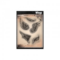 Airbrush Tattoo Pro Stencil Wings