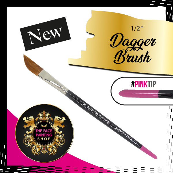 The Face Painting Shop 1-2 Inch Dagger Brush