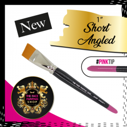 The Face Painting Shop Short 1 Inch Angled Brush