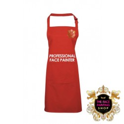 Professional Face Painter Apron - Red