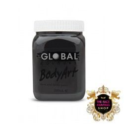 Global Body Art Liquid Black 200ml