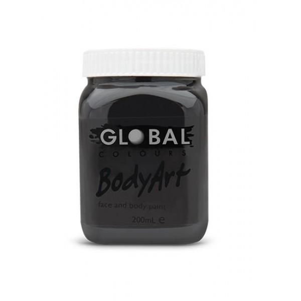 Global Body Art Liquid Black 200ml