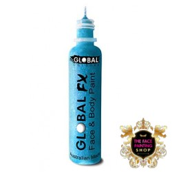 Global Colours Glitter Gel Aqua Blue 36ml