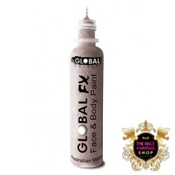 Global Colours Glitter Gel Crystal White 36ml