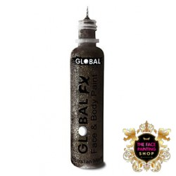 Global Colours Glitter Gel Jet Black 36ml