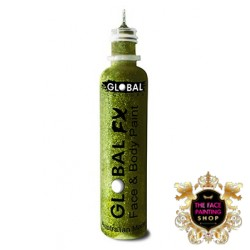 Global Colours Glitter Gel Lime Green 36ml