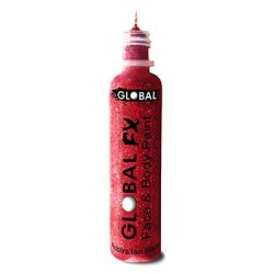 Global Colours Glitter Gel Red 36ml