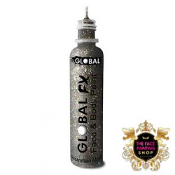 Global Colours Glitter Gel Holographic Silver 36ml