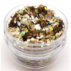 Chunky Glitter Pale Holo Gold Diamonds
