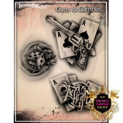 Airbrush Tattoo Pro Stencil Guns And Gamblin