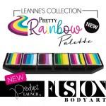Fusion Body Art Leanne's Pretty Rainbow Palette